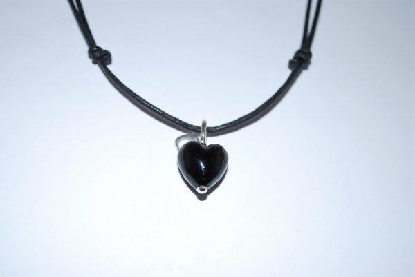 Glas hjerte- sort